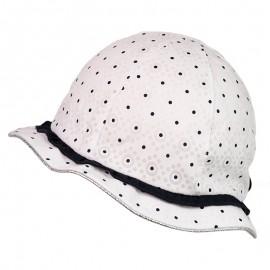 BARBARA Kapelusz bawełniany dla dziewczynki Jamiks JLC060 kolor biały/granat