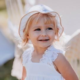 BARBARA Kapelusz bawełniany dla dziewczynki Jamiks JLC060 kolor biały
