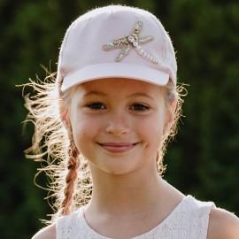 CAPRI Czapka z daszkiem dziewczęca Jamiks JLC095 kolor róż