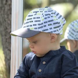 COOL BOY Czapka z daszkiem chłopięca Jamiks JLC101 kolor biały/dżins