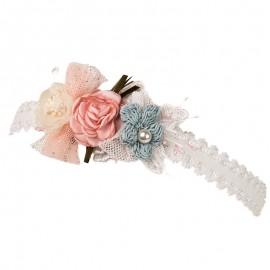 FLAMENCJA Opaska elegancka dla dziewczynki Jamiks JLC115 kolor róż/miętowy