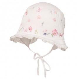 FLORA Kapelusz bawełniany dla dziewczynki Jamiks JLC020 kolor biały