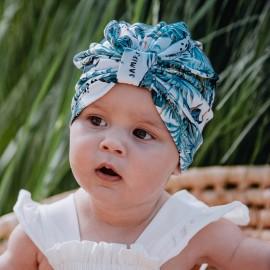FUMA turban Czapka dla dziewczynki Jamiks JWC189 kolor szmaragdowy
