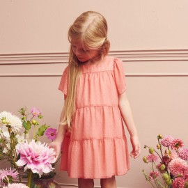 Sukienka wizytowa dziewczęca MINIMI 22/20 kolor róż