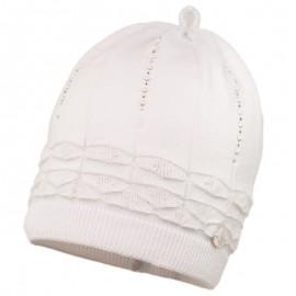 HERMOSA czapka dziewczęca Jamiks JWC046 kolor biały