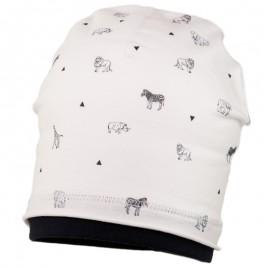LEON czapka bawełniana chłopięca Jamiks JWC067 krem