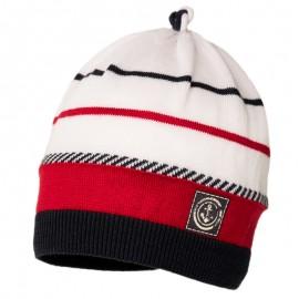 LUCIAN czapka przejściowa chłopięca Jamiks JWC175 kolor granat/czerwony