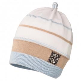 LUCIAN czapka przejściowa chłopięca Jamiks JWC175 kolor niebieski/beż