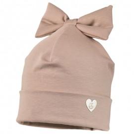 MILKA czapka przejściowa dziecięca Jamiks JWC176 kolor brudny róż
