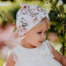 NATASZA turban czapka dziewczeca Jamiks JWC133 kolor różowy