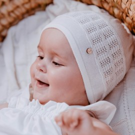 TAKOTA czapka dziewczęca Jamiks JWC188 kolor biały