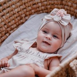 TINTA turban czapka dziewczęca Jamiks JWC185 kolor brudny róż