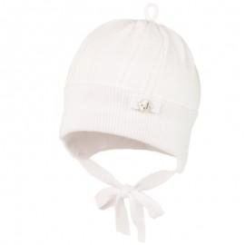 TOMASA czapka niemowlęca Jamiks JWC168 kolor biały