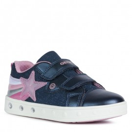 Sneakersy dziewczęce Geox J028WC-0ASAJ-C4002 granat