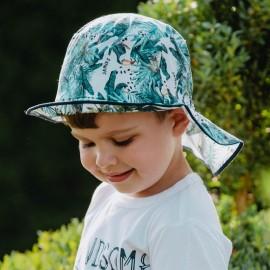 HIRARIO kapelusz na lato dla chłopców Jamiks JLC121 kolor szmaragdowy