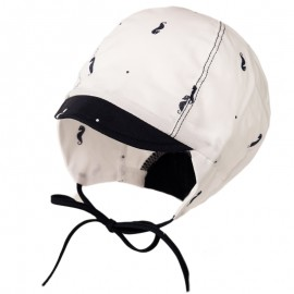 KLAUDIUSZ czapka chłopięca wiązana na lato Jamiks JLC035 biała