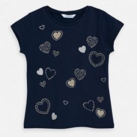 Koszulka z krótkim rękawem dziewczęca Mayoral 3012-66 granat
