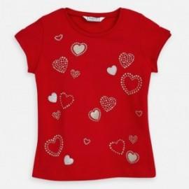 Koszulka z krótkim rękawem dziewczęca Mayoral 3012-65 czerwona