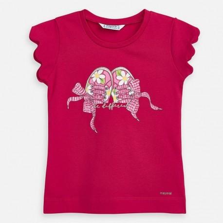 Koszulka dziewczęca Mayoral 3015-54 czerwona