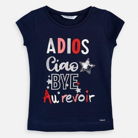 Koszulka dla dziewczynki Mayoral 3018-54 granat