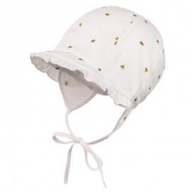LILIANA organic Kapelusz wiązany dla dziewczynki Jamiks JLC055 kolor biały
