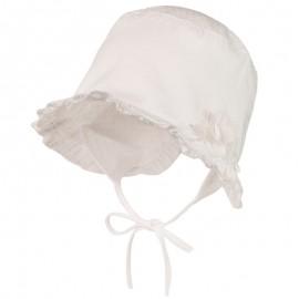 NINA Kapelusz wiązany dla dziewczynki Jamiks JLC012 kolor biały