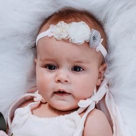 PASTELOVA Opaska elegancka dla dziewczynki Jamiks JLC090 kolor biały