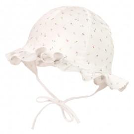 TOSIA Kapelusz wiązany dla dziewczynki Jamiks JLC073 kolor biały