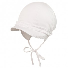 ZOSIA Czapka wiązana dla dziewczynki Jamiks JLC030 kolor biały