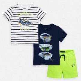 Komplet 2 koszulki i szorty dla chłopca Mayoral 3624-11 Zielony