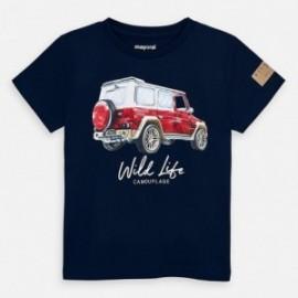 Koszulka z krótkim rękawem chłopięca Mayoral 3071-63 Granatowy