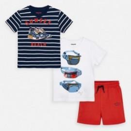 Komplet 2 koszulki i szorty dla chłopca Mayoral 3624-12 Czerwony