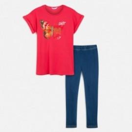 Komplet bluzka i leginsy dziewczęcy Mayoral 6716-16 Czerwony