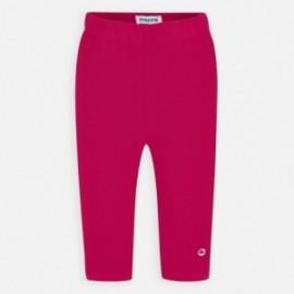 Leginsy bawełniane dla dziewczynki Mayoral 723-54 czerwone