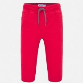 Spodnie na gumce dla chłopców Mayoral 1547-69 czerwony