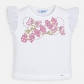 Koszulka bawełniana dla dziewczynki Mayoral 3002-52 Różowy