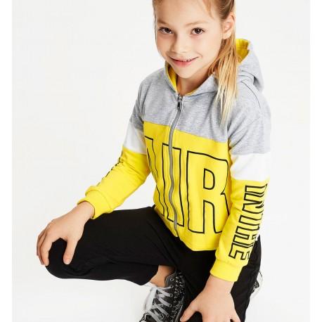 Dres sportowy do joggingu dziewczęcy iDO J572-8180 kolor żółty/czarny