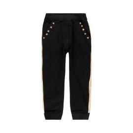 Spodnie dresowe dla dziewczynki Boboli 449029-890 kolor CZARNY