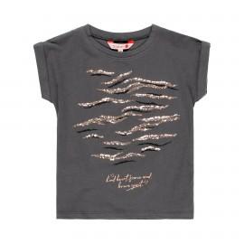 Koszulka z cekinami dla dziewczynki Boboli 449119-8076 kolor grafit