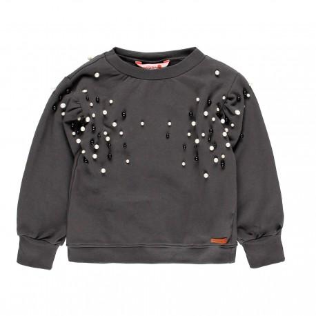Bluza dla dziewczynki Boboli 449175-8076 kolor grafit