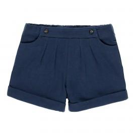 Bawełniane spodenki stretch dla dziewczynki Boboli 459065-2440 kolor granat