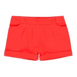 Bawełniane spodenki stretch dla dziewczynki Boboli 459065-3654 kolor czerwony