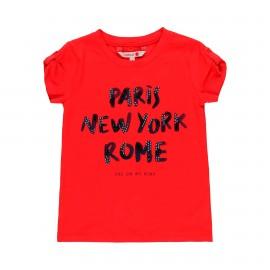 Dzianinowa koszulka dla dziewczynki Boboli 459086-3654 kolor czerwony