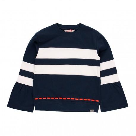Dzianinowa bluza dla dziewczynki Boboli 459154-2440 kolor granat