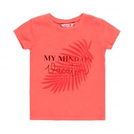 Dzianinowa koszulka dla dziewczynki Boboli 469032-3666 kolor malina