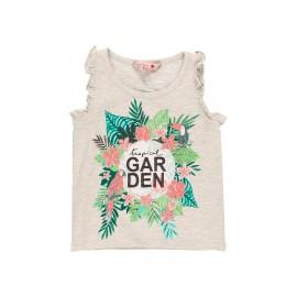 Dzianinowa koszulka dla dziewczynki Boboli 469133-7359 kolor ecru