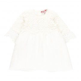 Sukienka z gipiury dla dziewczynki Boboli 709242-1111 kolor biały