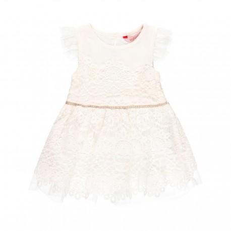 Sukienka z gipiury dziewczęca Boboli 709309-1111 kolor biały