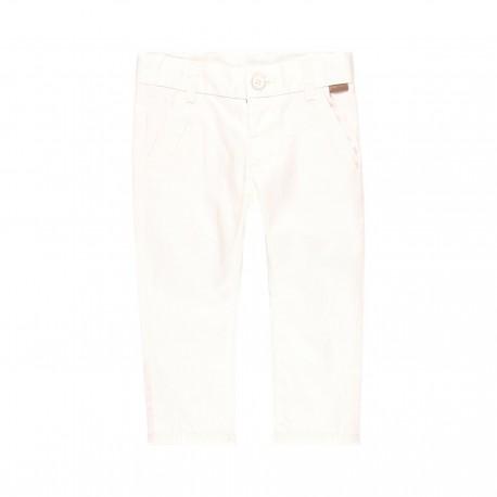 Satynowe spodnie dla chłopca Boboli 719029-1100 kolor biały