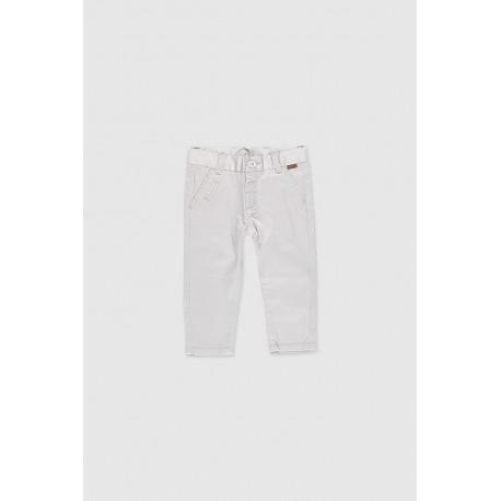 Satynowe spodnie dla chłopca Boboli 719029-7351 kolor beżowy